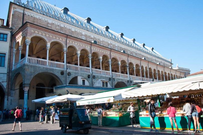 The Marketplace with Palazzo della Raggione, Padua, Italy - www.rossiwrites.com