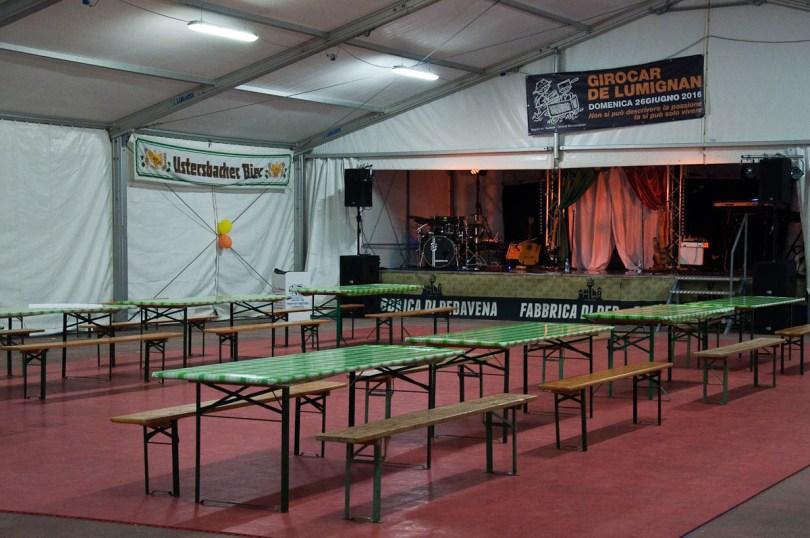 The marquee for the live entertainment, Pea Festival, Sagra dei Bisi, Lumignano, Veneto, Italy - www.rossiwrites.com