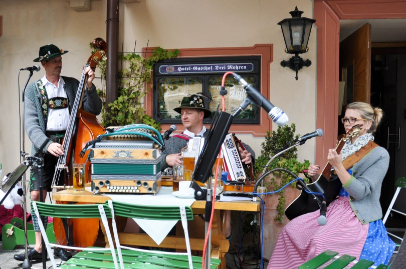 Bavarian folk-band, Garmish-Parternkirchen, Bavaria, Germany