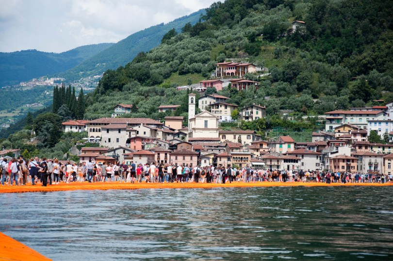 Christo's The Floating Piers, Walking from Sulzano to Monte Isola, Italy - www.rossiwrites.com