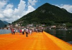 Christo's The Floating Piers, Walking on sunshine, Lake Iseo, Italy - www.rossiwrites.com