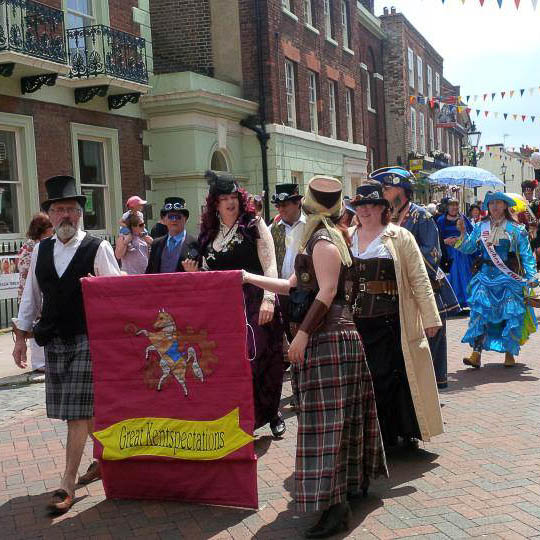 Dickens' Parade, Rochester High Street, Kent, UK - www.rossiwrites.com