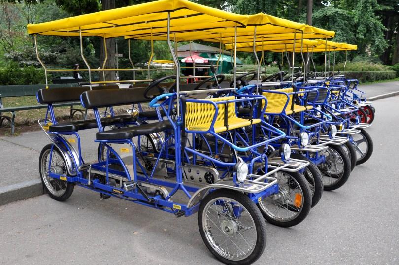 Hire bikes, Parco del Valentino, Turin, Italy