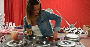Serving cherry gelato, Castegnero, Veneto, Italy - www.rossiwrites.com