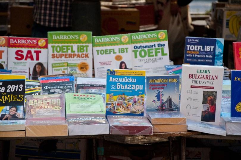 Book stall, Slaveikov Square, Sofia, Bulgaria - www.rossiwrites.com
