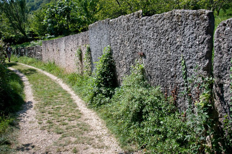 Huge slates stand up by the path, The village of Molina, Province of Verona, Italy - www.rossiwrites.com