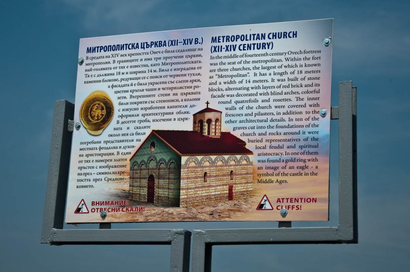 Information board, Ovech Fortress, Provadia, Bulgaria - www.rossiwrites.com