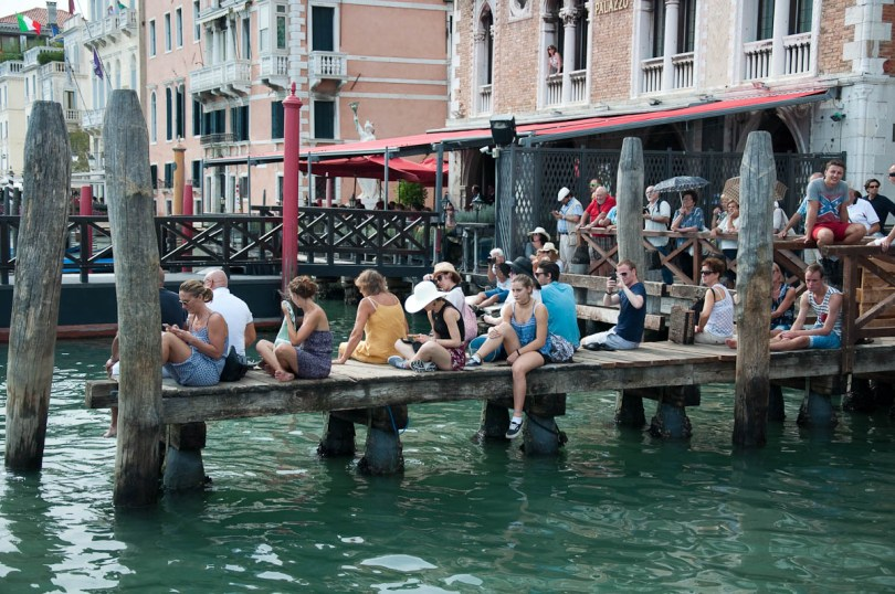 Spectators waiting for the parade to start, Historical Regatta, Venice, Italy - www.rossiwrites.com