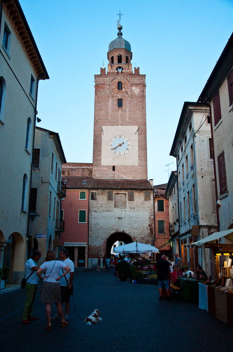 The town's main street, Mediaevil Fair, Castelfranco Veneto, Italy - www.rossiwrites.com