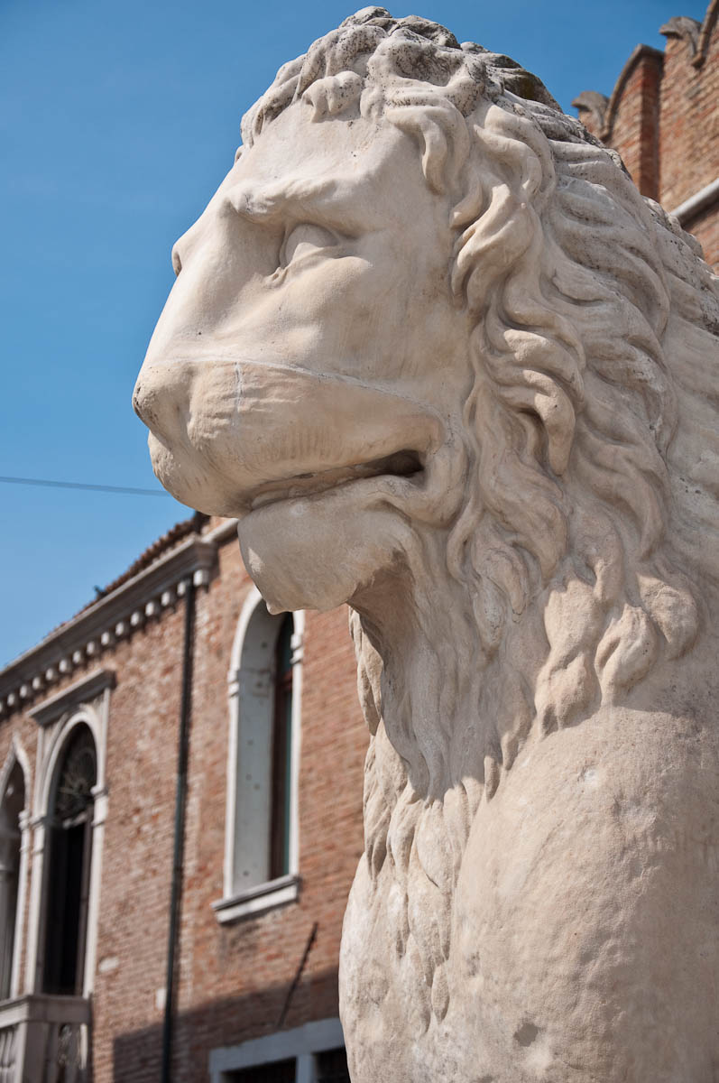 A lion, Arsenale's Porta Magna - Venice, Italy - www.rossiwrites.com