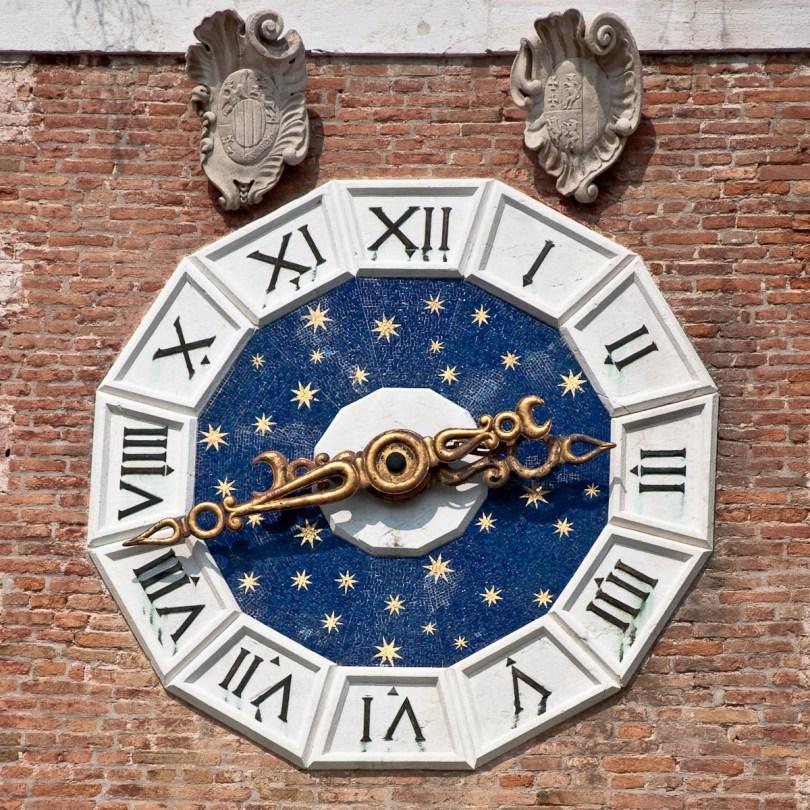 Arsenale's Porta Magna Tower Clock - Venice, Italy - www.rossiwrites.com