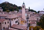 The Rocca fortress and Asolo seen from the medieval castle - Asolo, Veneto, Italy - www.rossiwrites.com