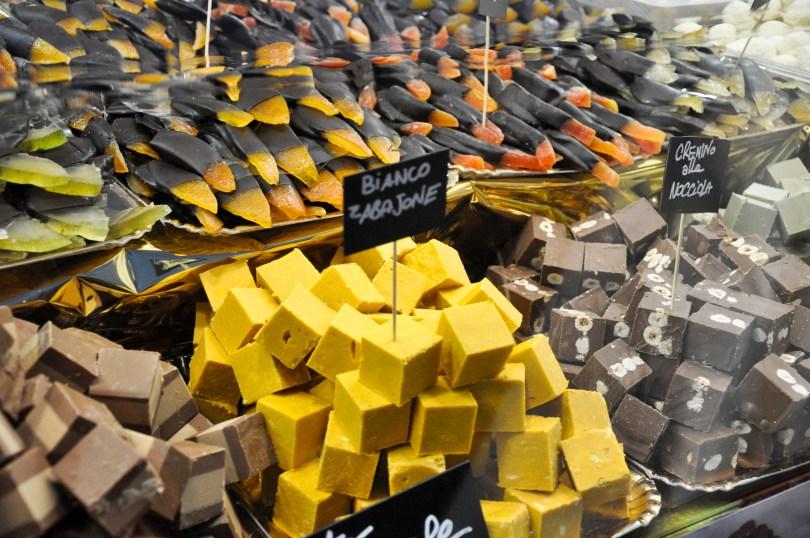 Cremino cubes, Chocolate Festival, Piazza dei Signori - Vicenza, Veneto, Italy - www.rossiwrites.com