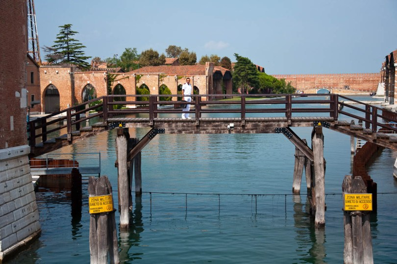 A man in uniform, Arsenale's Porta Magna - Venice, Italy - www.rossiwrites.com