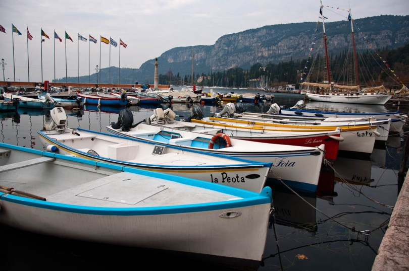 A gaggle of boats in the marina - Garda, Lake Garda, Italy - www.rossiwrites.com