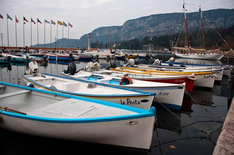 A gaggle of boats in the marina - Garda, Lake Garda, Italy - www.rossiwrites.com