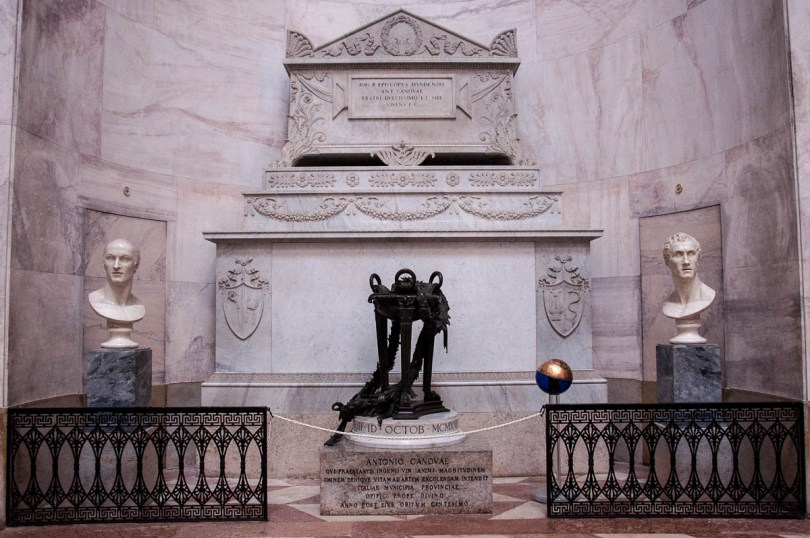 Canova's tomb inside the Tempio Canoviano or the Temple of Canova - Possagno, Treviso, Veneto, Italy - www.rossiwrites.com