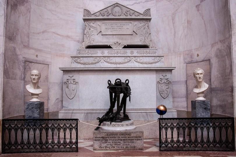 Canova's tomb inside the Tempio Canoviano or the Temple of Canova - Possagno, Treviso, Veneto, Italy - www.rossiwrites.com