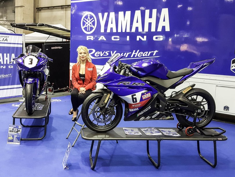 The Yamaha stand - Verona Motor Bike Expo 2017, Italy - www.rossiwrites.com