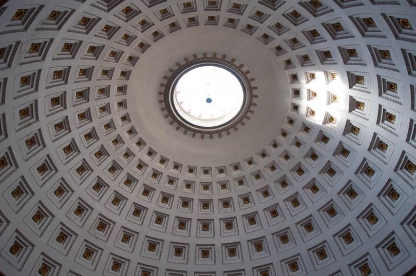 The ceiling of the Tempio Canoviano or the Temple of Canova - Possagno, Treviso, Veneto, Italy - www.rossiwrites.com