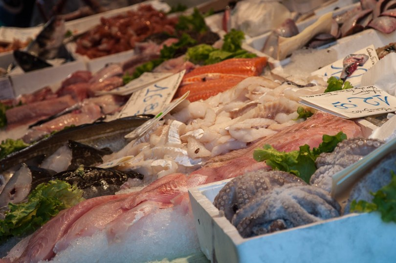 Fresh fish and seafood - Rialto Fish Market, Venice, Italy - www.rossiwrites.com