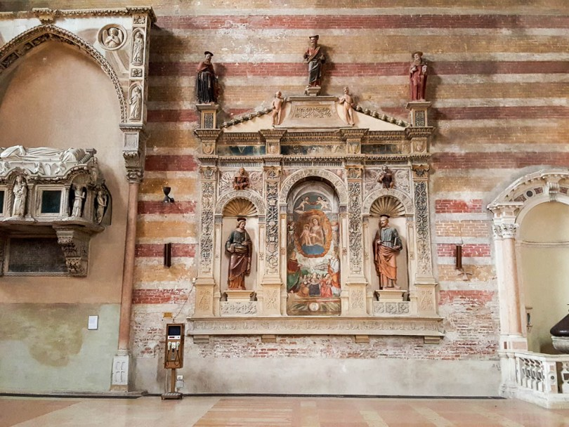 Inside the Church of the Eremitani, Padua, Italy - www.rossiwrites.com