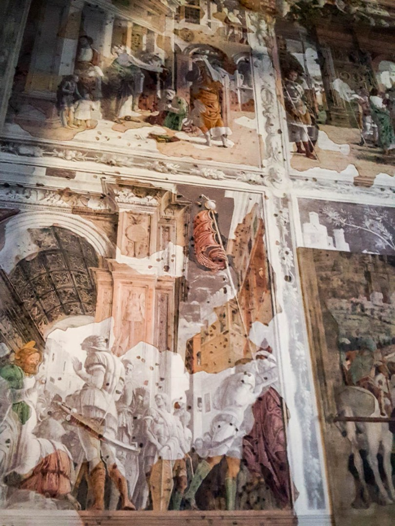 Reconstructed panels of Mantegna's frescoes Stories of St. James - Church of the Eremitani, Padua, Italy - www.rossiwrites.com