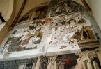 Reconstructed panels of the frescoes Stories of St. Christopher - Church of the Eremitani, Padua, Italy - www.rossiwrites.com