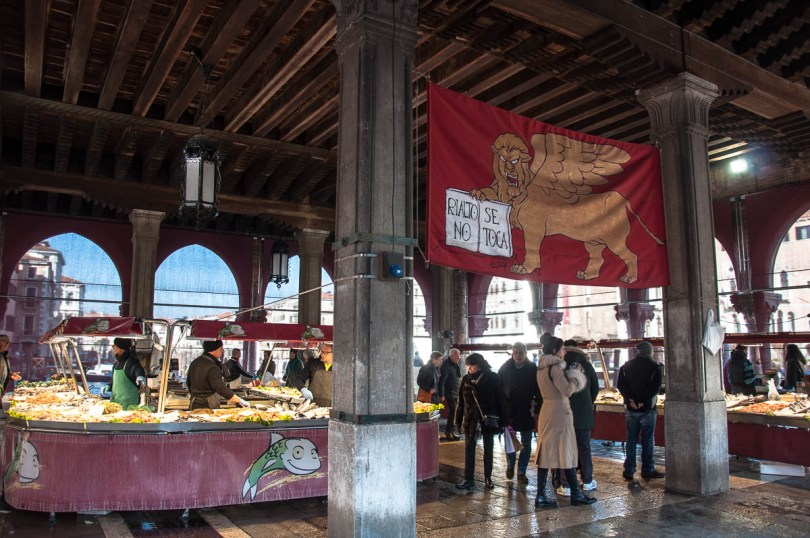 The small market hall - Rialto Fish Market, Venice, Italy - www.rossiwrites.com