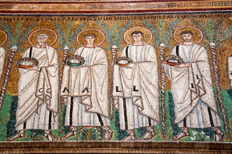 A close-up of the mosaics - Basilica of Sant'Apollinare Nuovo - Ravenna, Emilia Romagna, Italy - www.rossiwrites.com