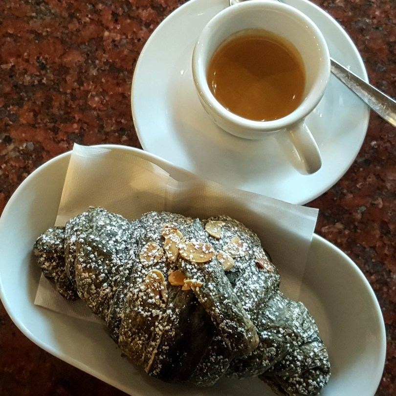 A cup of espresso with brioche - Vicenza, Veneto, Italy - www.rossiwrites.com