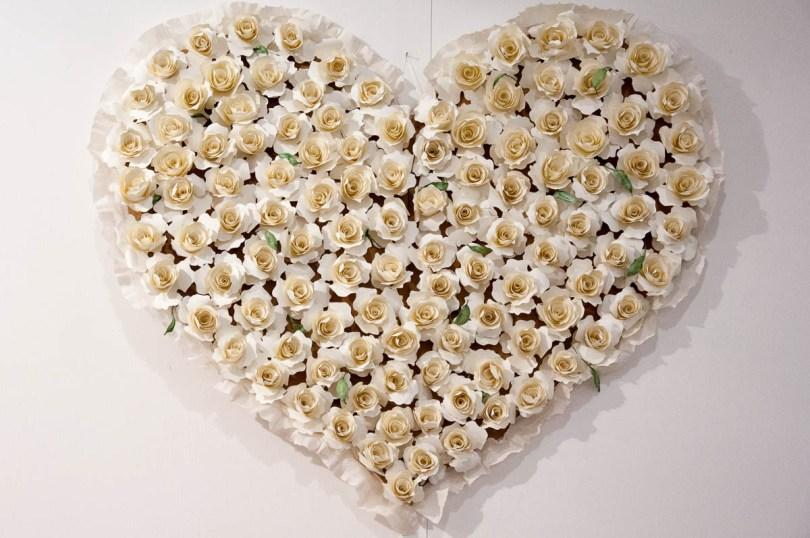 Paper Flowers Heart by Monica dal Molin - Abilmente Primavera 2017 - Vicenza, Italy - www.rossiwrites.com