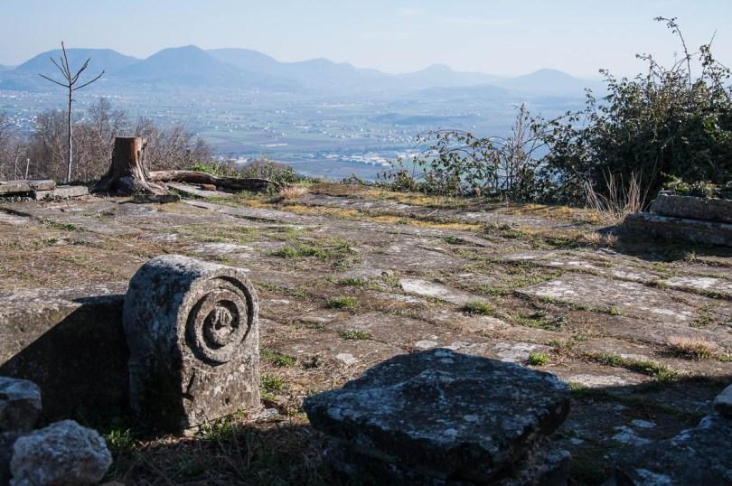 The Euganean Hills seen from the Oratorio Sermondi - Colli Berici, Vicenza, Italy - www.rossiwrites.com