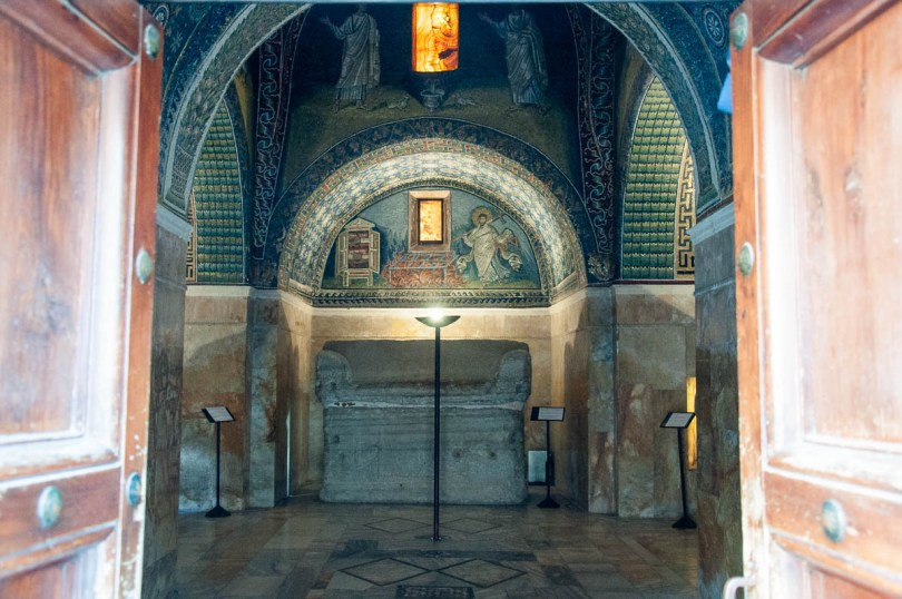 The entrance - Mausoleum of Galla Placidia - Ravenna, Emilia Romagna, Italy - www.rossiwrites.com