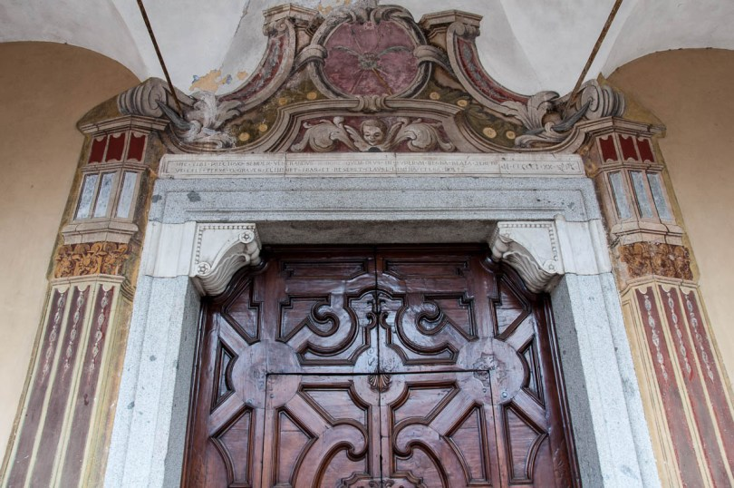 The gate of the St. George's church - Bagolino, Lombardy, Italy - www.rossiwrites.com