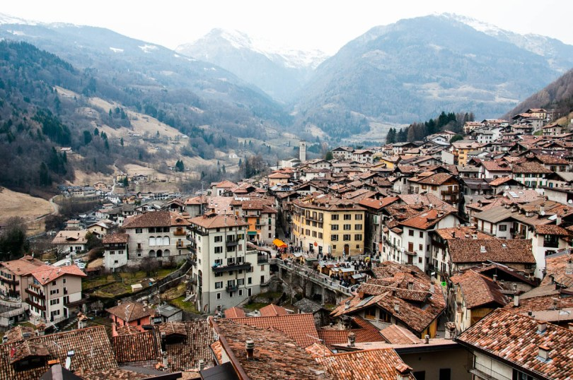 The village seen from the gallery of the St. George's church - Bagolino, Lombardy, Italy - www.rossiwrites.com
