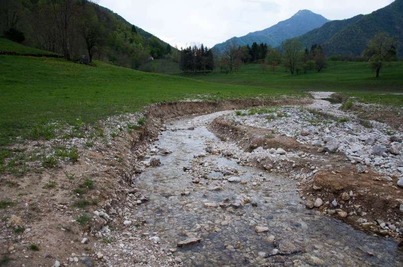 A fast running stream - Laghi, Veneto, Italy - www.rossiwrites.com