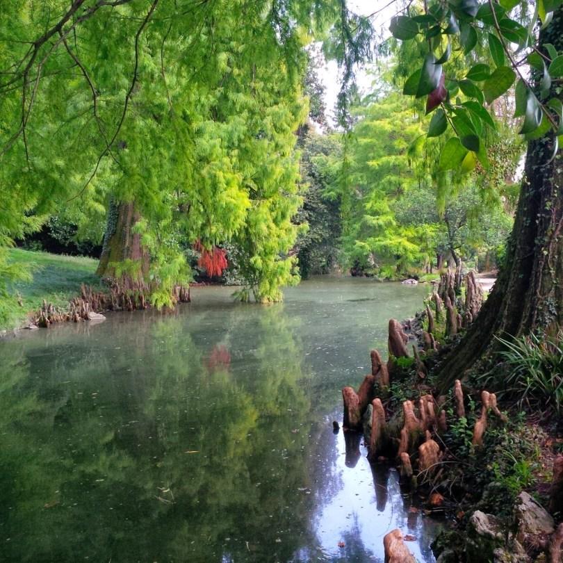 The pond in Villa Rossi's garden - Santorso, Veneto. Italy - www.rossiwrites.com