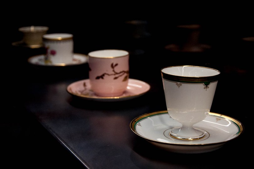 Tiny espresso cups - The Bontadi Coffee Museum - Rovereto, Trentino, Italy - www.rossiwrites.com