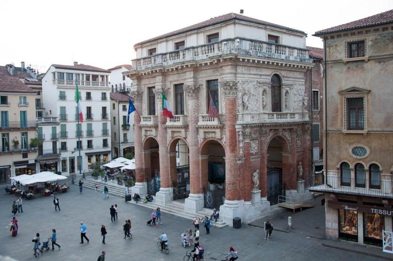 Loggia del Capitaniato, Piazza dei Signori - seen from Palladio's Basilica, Vicenza , Italy - www.rossiwrites.com