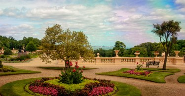 Rainbow Sky - A view of the garden - Osborne House, Cowes, Isle of Wight, England - www.rossiwrites.com