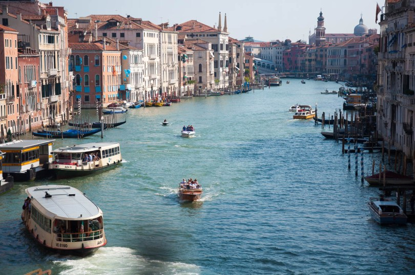 The Grand Canal seen from Ca' Foscari - Venice, Italy - rossiwrites.com