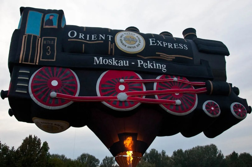 The Orient Express balloon - Ferrara Balloons Festival 2016 - Italy - www.rossiwrites.com