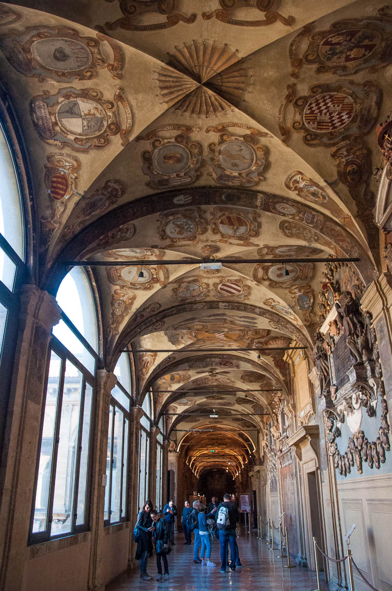 The top gallery of Bologna University - Bologna, Emilia-Romagna, Italy - www.rossiwrites.com