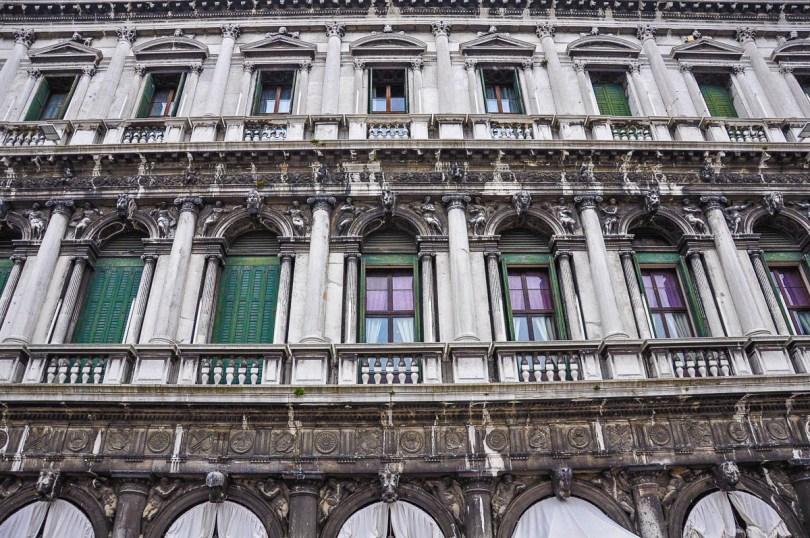 A close-up of the Procuratie - Venice, Veneto, Italy - www.rossiwrites.com