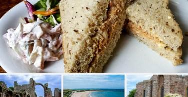Crab sandwiches - Holy Island of Lindisfarne, Northumberland, England - www.rossiwrites.com