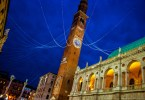 Torre Bissara at the Piazza dei Signori with Christmas lights - Christmas in Vicenza - Veneto, Italy - www.rossiwrites.com