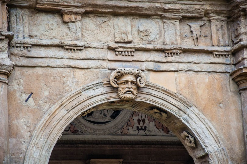 A close-up of the Cornaro Loggia's facade - Cornaro Loggia and Odeon Cornaro - Padua, Veneto, Italy - www.rossiwrites.com