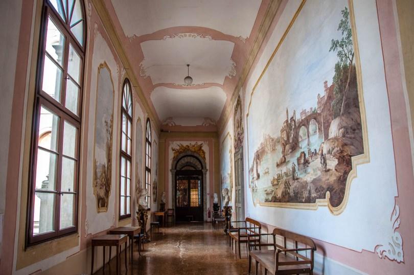 Frescoed corridor - Villa Pisani, Stra, Veneto, Italy - www.rossiwrites.com