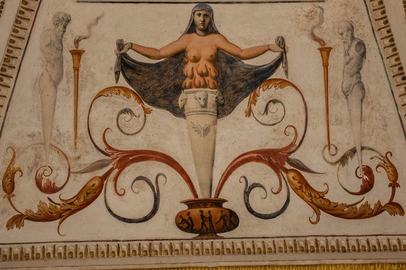 Multibreasted woman - Symbol of Fertility - Cornaro Loggia and Odeon - Padua, Veneto, Italy - www.rossiwrites.com